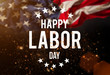 canvas print picture - Labor day banner, patriotic background