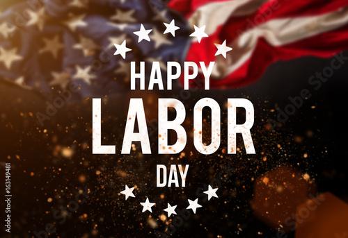 Labor day banner, patriotic background