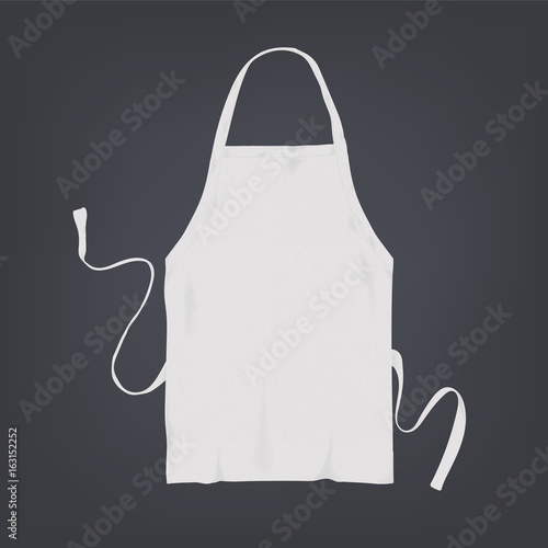Foto Realistic white kitchen apron