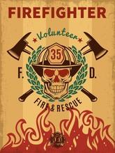 Vintage Firefighter Poster