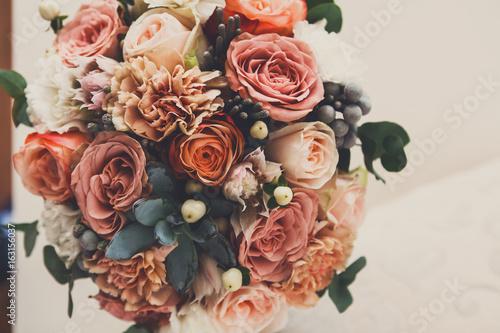 Stampa su Tela  Wedding flowers, floral decor, bridal bouquet