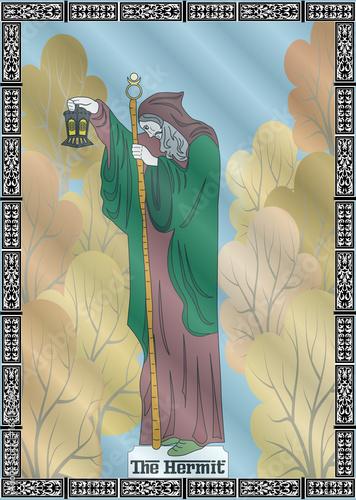 Carta da parati the hermit card