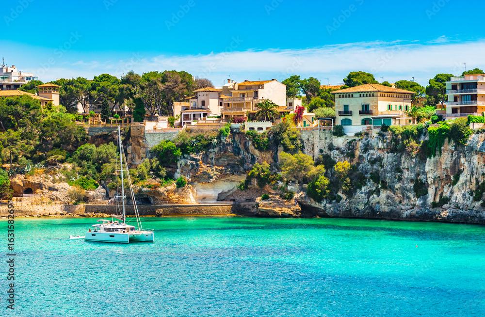Fototapety, obrazy: Beautiful view of the coast of Porto Cristo on Majorca island, Spain Mediterranean Sea