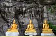 Old golden buddha statue at Wat Phra Phutthachai in Saraburi, Thailand