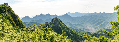 Foto op Canvas Chinese Muur Great Wall of China, Jiankou sectio China, panoramic view
