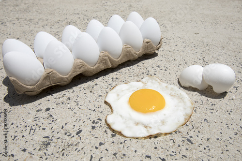 Fry an egg on the sidewalk day