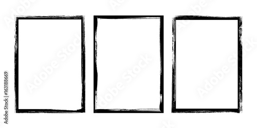 Photo Grunge frame - stock vector.