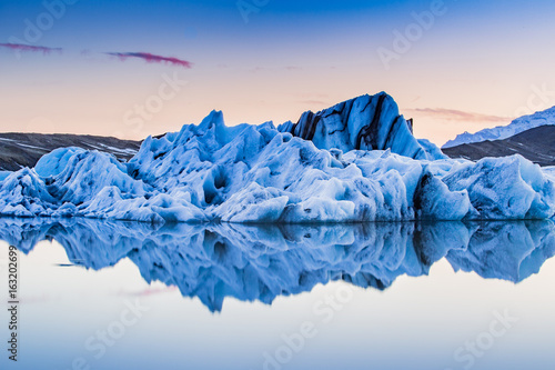 Fotografija Jokulsarlon, Iceland floating glacier ice