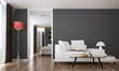 Leinwanddruck Bild - The interior of modern living room and bedroom service apartment design