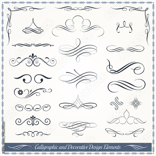 Calligraphic and Decorative Design Patterns Collection Canvas Print