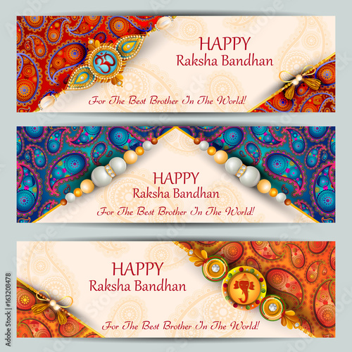 Photo  Rakhi background for Indian festival Raksha bandhan celebration