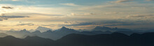 Daybreak Over Mountains Panorama