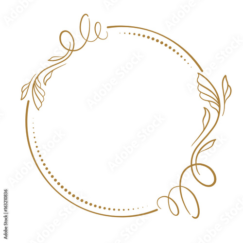 Obraz Vector floral vintage frame - fototapety do salonu