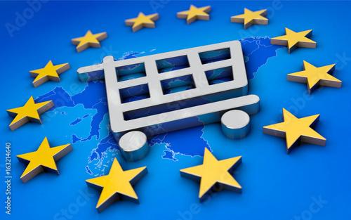 Obraz Handelszone Europa - fototapety do salonu