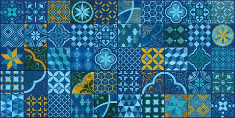 Panel Szklany Podświetlane Mozaika kafle oceaniczne śródziemnolądowe