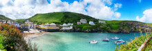 Panorama Of Old Village Port Isaac, Cornwall