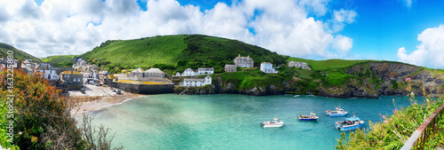 panorama of old village Port Isaac, Cornwall Poster