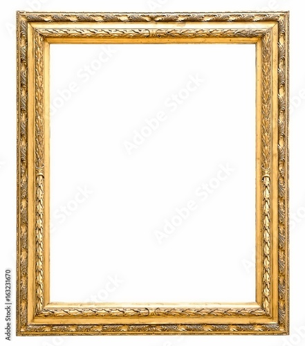 Gold frame for paintings, mirrors or photos - Buy this stock photo ...