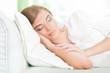sleeping beautiful young woman