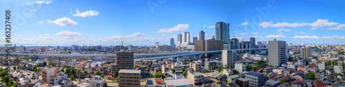 日本の都市 名古屋のパノラマ写真