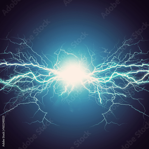 Obraz Thunder bolt, industrial and science abstract backgrounds - fototapety do salonu