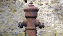 Closeup Of Old Weathered Fire Hydrant
