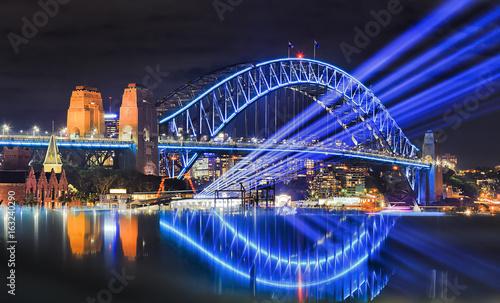 Canvas Prints Bridge Sy vivid 17 Bridge Beams Reflect