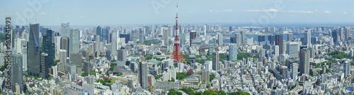 Poster Tokyo 東京都市風景 東京タワー 六本木から望む都心全景 パノラマ
