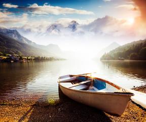 Fototapeta Rzeki i Jeziora Location: resort Grundlsee, Liezen District of Styria, Austria, Alps. Europe. Beauty world.