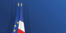Drapeau - Europe - Européen - France - Français - Fond - Présentation