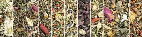 Photo  Chinese herbal blend tea collection