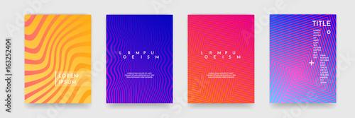 Okładka książki szablon falisty streszczenie wzór tekstury wektor zestaw