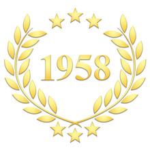 Lauriers 3 étoiles 1958 Sur Fond Blanc