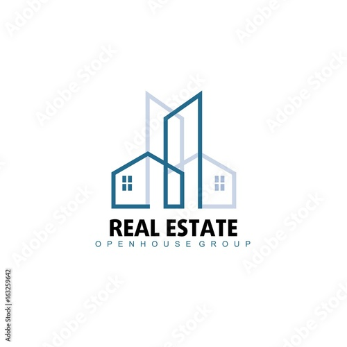 Real Estate Apartment For Rent: Logo Template Real Estate, Apartment, Condo, House, Rental