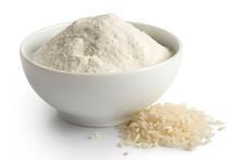 White Rice Flour In White Cera...