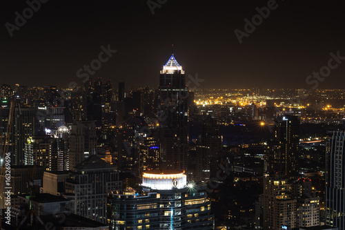 Obraz na dibondzie (fotoboard) Noc Bangkok