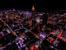 Drone View Of Atlanta Skyline ...