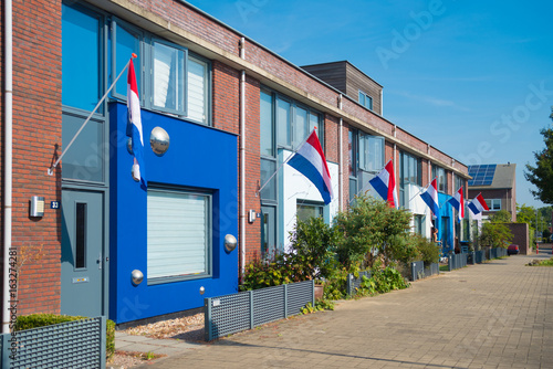 Poster Afrique du Sud dutch flags in the street