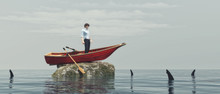 Young Man In A Boat