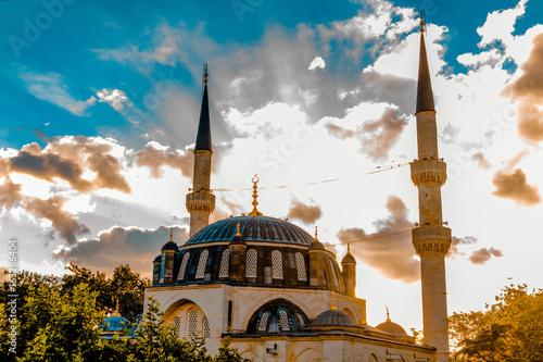 Plakat Nowy meczet Valide. w Uskudar