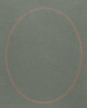 Fabric Background With Gold Embossed Oval Frame