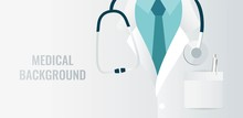 Medical Background With Close ...