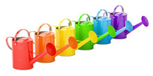 Set Of Colored Watering Cans, ...