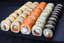 Colorful Delicious Set Of Sush...