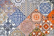 Detail Of Ornamental Ceramic T...