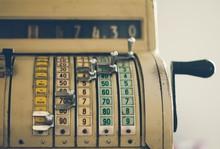 Old Vintage Cash Register Mach...