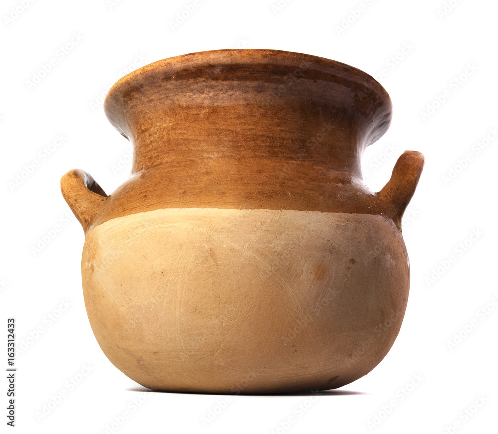 Fototapety, obrazy: Isolated Mexican Ceramic Pot