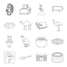 Sports, Travel, Animals And Other Web Icon In Outline Style.cooking, Transportation, Building Icons In Set Collection.