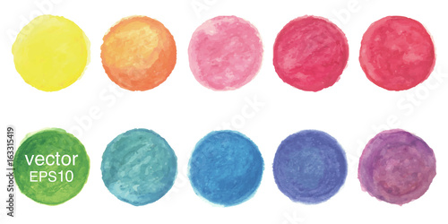 Obraz Vector watercolor circle background - fototapety do salonu