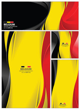Abstract Belgium Flag Background